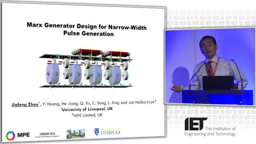 Marx generator design for narrow-width pulse generation